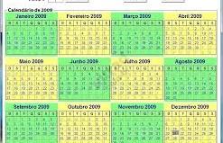 calendário infinito