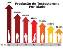 Produção de testosterona por idade